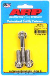 "ARP - ARP4307401 - ARP Thermostat Housing Bolt Kit- Chevy- (3 Piece Set- 2-1"" & 1-2"" Long Bolts) - Stainless Steel- 12 Point"