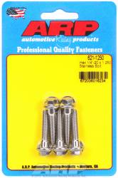 ARP - ARP6211250 - ARP SAE Bolt Kit, 1/4-20, 1.25 UHL, 1.000 Thread Length, 0.250 Grip Length, Stainless Steel, Hex Head, 5 Pack