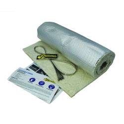 "Heatshield Products - HSP176001 - Heatshield Armor Hot Pipe Kit - 1/2"" thick, 1'W x 3'L with (4) 5/16"" W x 14""L Ties"