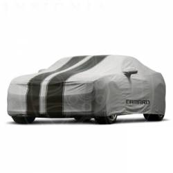GM (General Motors) - 92223304 - 2011-15 Chevy Camaro Convertible Car Cover - Gray with Black Stripes, For Outdoor Use