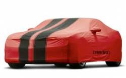 GM (General Motors) - 92223303 - 2011-15 Chevy Camaro Convertible Car Cover - Red with Black Stripes and Camaro Logo, For Outdoor Use