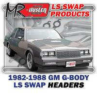 "Hedman Hedders - HD45010 1978-83 GM A Body, 82-88 G Body & 78-87 El Camino 1-3/4"" Long Tube LS Engine Swap Headers"
