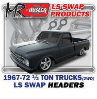 "Hedman Hedders - HD45660 1967-98 GM Truck & SUV, 1/2 Ton, 2WD 1-3/4"" Mid Length LS Engine Swap Headers"