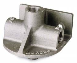 Moroso Performance - MOR23750 - Moroso Remote Oil Filter Mount, Accepts Chevy V8 type spin-on oil filters. Flow direction: inlet right side, outlet left side