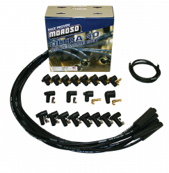 Moroso Performance - MOR73815 - Moroso Ultra 40 Race Wire Universal Wire Set - Black, Straight Plug, Unsleeved