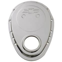 Proform - 141218 - Chrome Die-Cast Aluminum Timing Chain Cover - 65-90 SBC