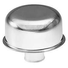 "Proform - 66035 - Chrome Push-In Oil Breather Cap with 3/4"" OD Neck for PCV Hole, 3"" Diameter"