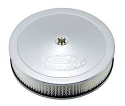 "Proform - 302350 - 13"" Round Ford Racing Air Cleaner - Chrome with Embossed Emblems"