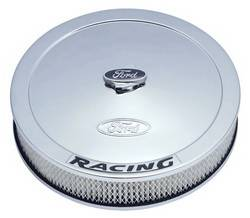 "Proform - 302351 - 13"" Round Ford Racing Air Cleaner - Chrome with Black Emblems"