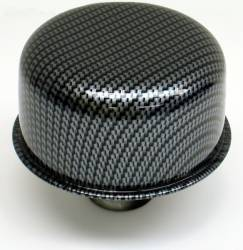 "Proform - 66013 - Carbon-Style Push-In Air Breather Cap, 3"" Diameter"