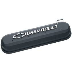 Proform - 141262 - LS Slant Edge Valve Covers - Black Crinkle with Raised Emblem