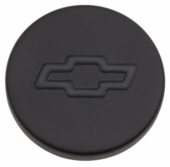 "Proform - 141629 - Black Crinkle Push-In Oil Filler Cap with Bowtie Emblem - Fits 1.22"" Diameter Hole"