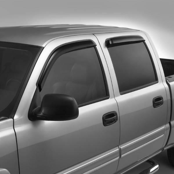 GM (General Motors) - 19172622 - Front and Rear Set Side Window Deflectors, Smoke, Fits 07-14 GM Crew Cab Pickups, Suburbans, Yukons, Denalis