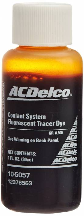 GM (General Motors) - 12378563 - GM Coolant System Fluorescent Tracer Dye - 1 oz.