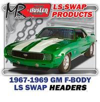 "Hedman Hedders - HD45060 1967-69 GM F Body 1-3/4"" Mid Length LS Engine Swap Headers"