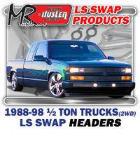 "Hedman Hedders - HD45670 1967-98 GM Truck & SUV, 1/2 Ton, 2WD 1-3/4"" Long Tube LS Engine Swap Headers"