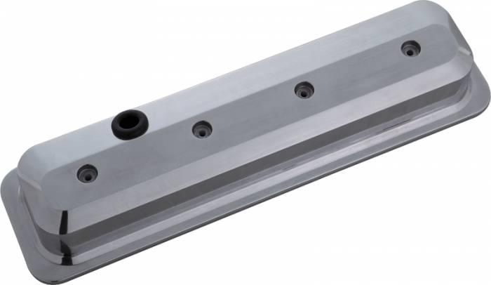 Proform - 141846 - Slant-Edge Aluminum Valve Covers, 87- Pre LS Chevy Small Block, Polished, No Emblem