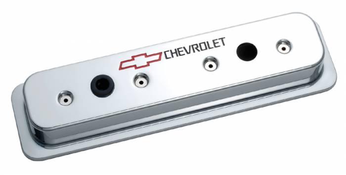 Proform - 141132 - Die Cast Aluminum Valve Cover - 87-current SBC, Chrome with Baffle