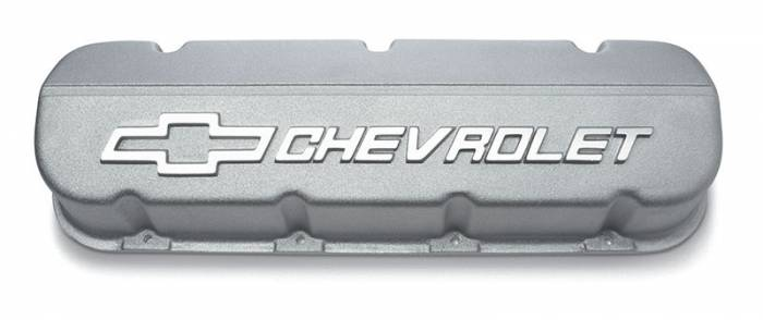 Chevrolet Performance Parts - 12370836 - Chevrolet Performance Parts Aluminum Valve Cover, BBC, As Cast Finish, Single