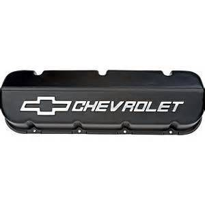 Chevrolet Performance Parts - 25534323 - Cast Aluminum Valve Covers, Big Block Chevy, Black Powder Coat, Tall with Chevrolet Logo