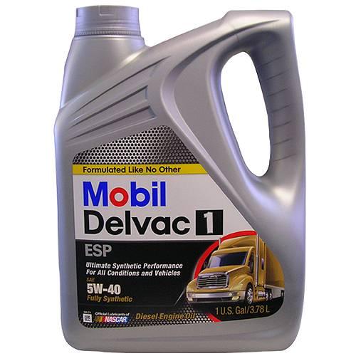 Mobil 1 - 12378522 - 5W40 Mobil Delvac ESP, Turbo Diesel Truck Oil - 1 Gallon