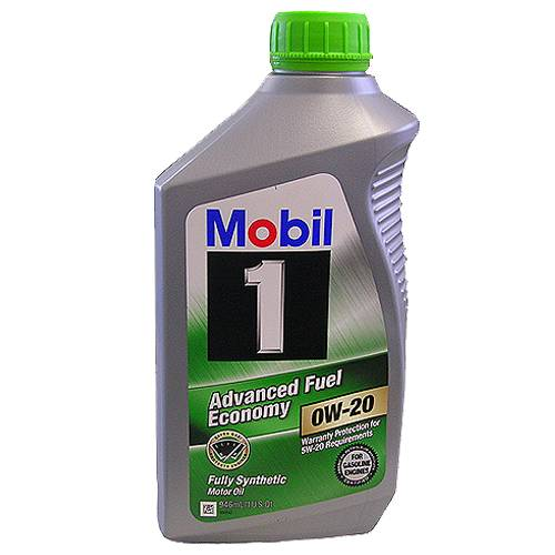 Mobil 1 - 19264761 - 0W20 Mobil 1 Synthetic Oil - 1 Quart