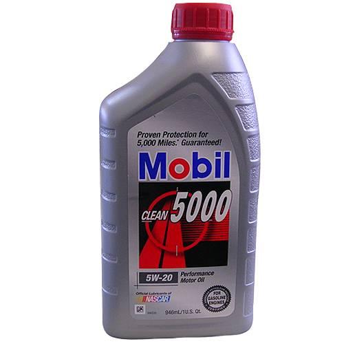 Mobil 1 - 88863399 - 5W20 Mobil Clean 5000 Oil - 1 Quart