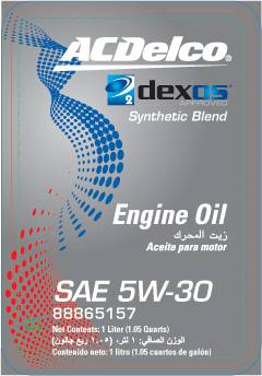 GM (General Motors) - 88865157 - ACDelco dexos2 Engine Oil, 5W30 - 1 Liter