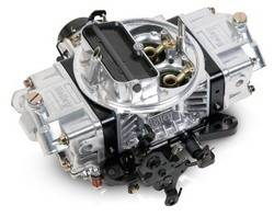 Holley Performance - HLY0-76750BK - Holley 750CFM Ultra Double Pumper Carburetor, Electric Choke, Mechanical Secondaries, Shiny with Black Anodized Billet Aluminum Metering Blocks/Base Plate
