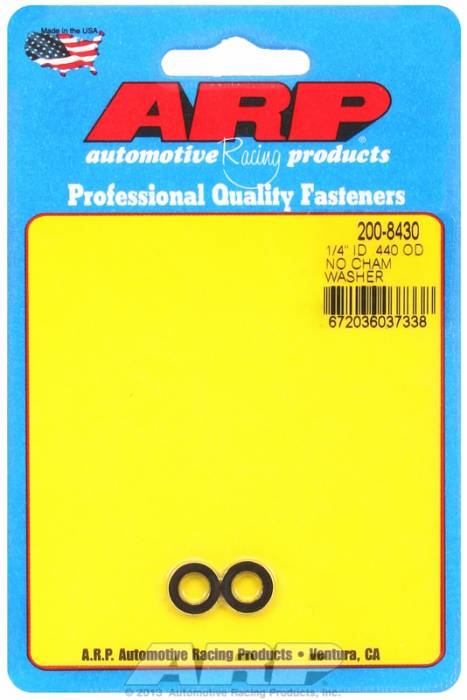 ARP - ARP2008430 - No C Hamfer Blk Washe