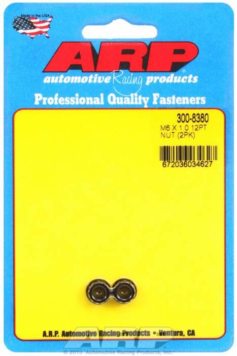 ARP - ARP3008380 - M6X1.00 12Pt Nut Kit