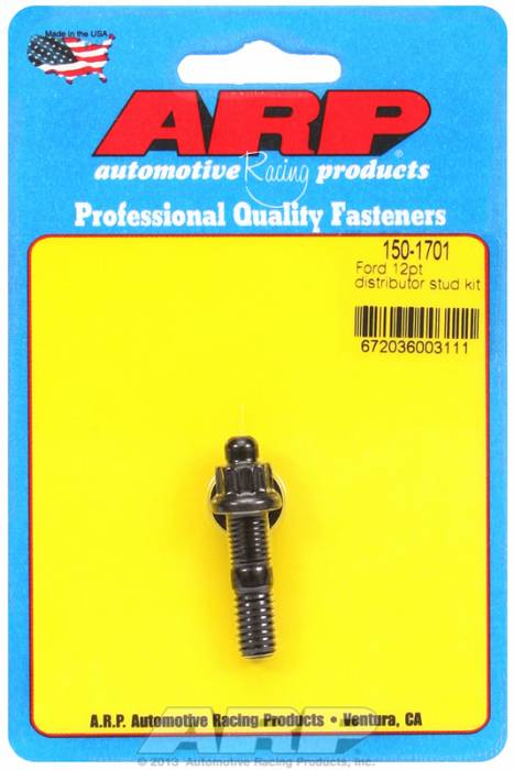 ARP - ARP1501701 - ARP Distributor Stud-Pontiac- Black Oxide- 12 Point Nut