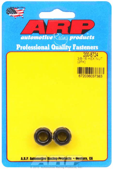 ARP - ARP2008724 - Black Hex Nut Kit