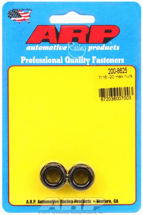 "ARP - ARP2008625 - ""7/16""""-20 HEX NUT KIT"""