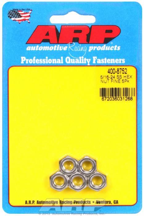 "ARP - ARP4008752 - ARP Bulk Fasteners - 5/16""-24 Stainless Steel Hex Head - 5 Pack"
