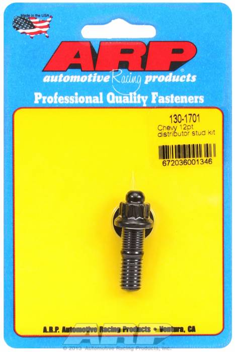 ARP - ARP1301701 - ARP Distributor Stud- Chevy- Black Oxide- 12 Point Nut
