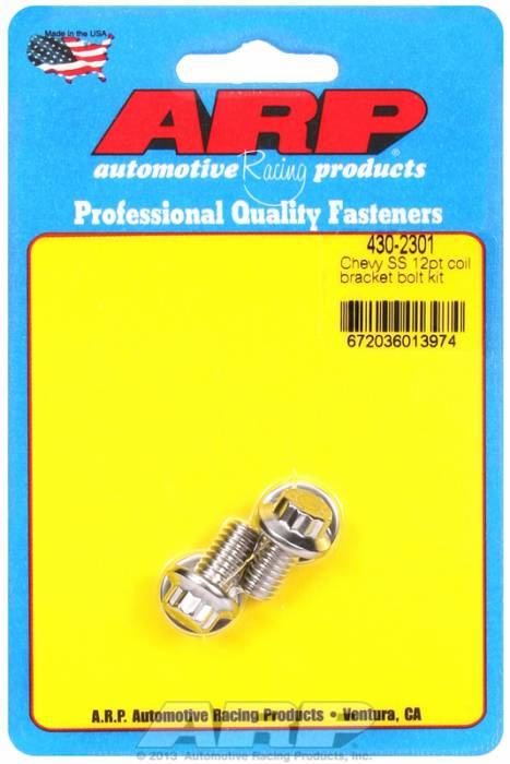 ARP - ARP4302301 - ARP Chevy Ignition Coil Bracket Bolt Kit- Stainless Steel- 12 Point Head