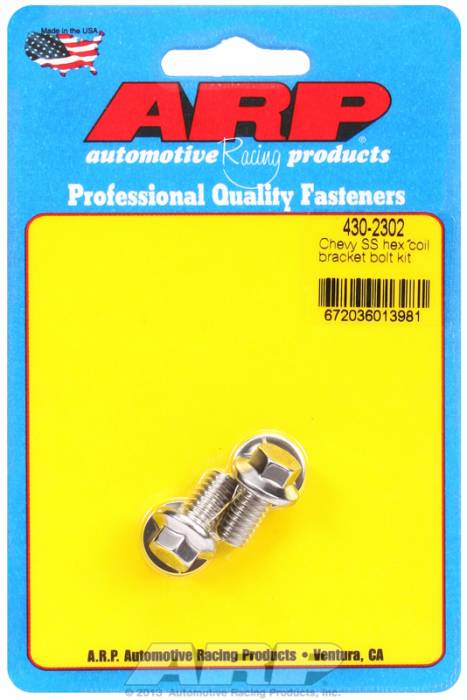 ARP - ARP4302302 - ARP Chevy Stainless Steel Ignition Coil Bracket Bolt, Hex Head