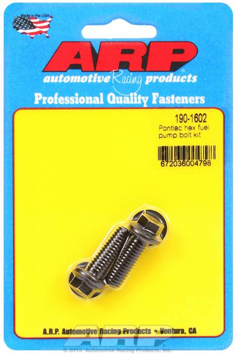 ARP - ARP1901602 - ARP Fuel Pump Bolt Kit-Pontiac- Black Oxide- 6 Point Head