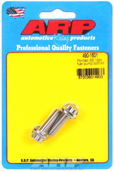 ARP - ARP4901601 - ARP Fuel Pump Bolt Kit-Pontiac- Stainless Steel- 12 Point Head