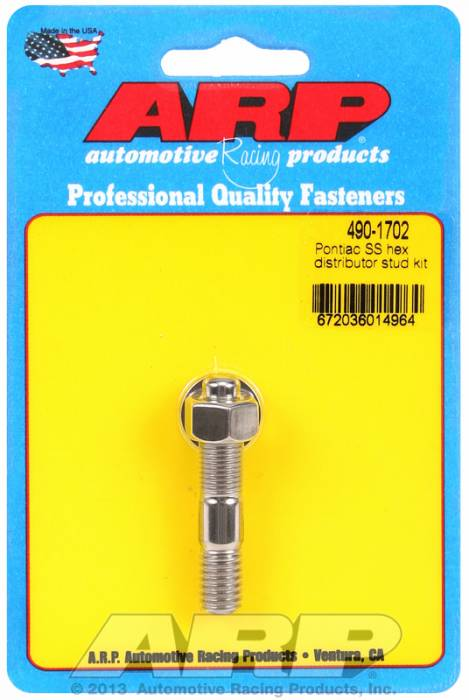 ARP - ARP4901702 - ARP Distributor Stud-Ford-Stainless Steel- 6 Point Nut