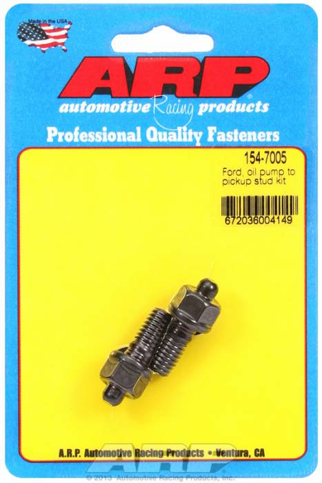 ARP - ARP1547005 - ARP Oil Pump Stud Kit- Ford - Oil Pump To Pick Up Tube Stud Kit - Black Oxide- 6 Point