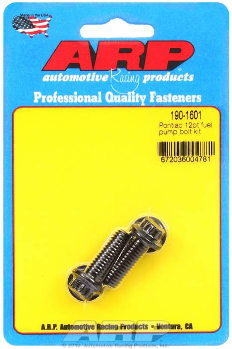 ARP - ARP1901601 - ARP Fuel Pump Bolt Kit-Pontiac- Black Oxide- 12 Point Head