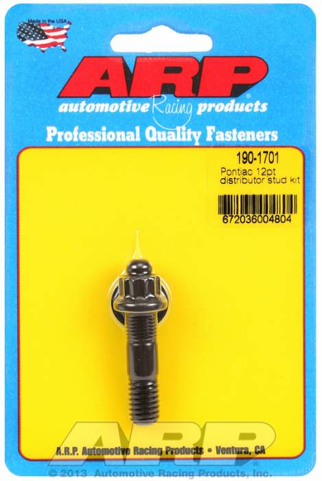 ARP - ARP1901701 - ARP Distributor Stud-Ford-Black Oxide- 12 Point Nut