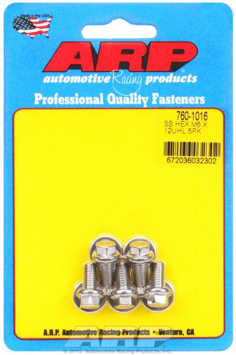 ARP - ARP7601016 - M6X1.00X12 Hex Ss Bo