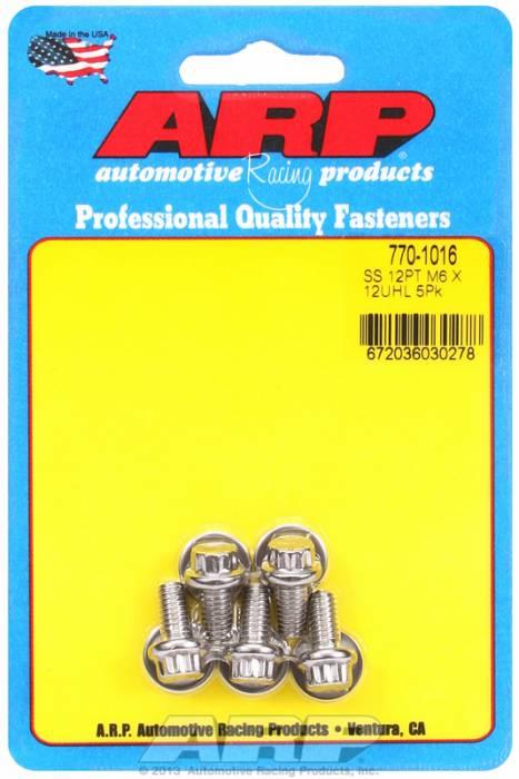 ARP - ARP7701016 - M6X1.00X12 12Pt Ss B