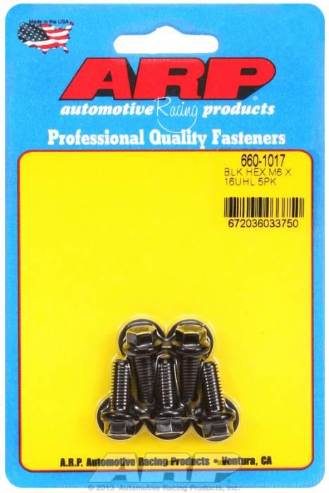 ARP - ARP6601017 - M6X1.00X16 HEX BLACK
