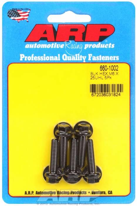 ARP - ARP6601002 - M6x1.00x25 HEX BLACK