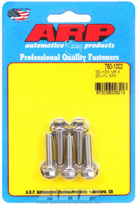 ARP - ARP7601002 - M6 X 1.00 X 25 Hex S