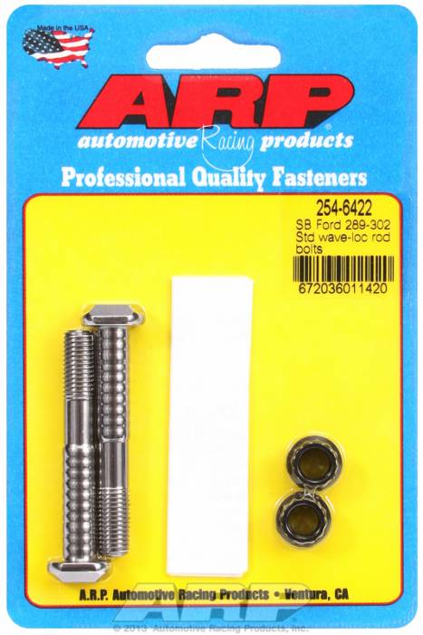 "ARP - ARP2546422 -ARP High Performance Pro Wave-Loc Rod Bolts- Ford 289,302- Standard 5/16""-  2 Pieces"